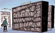 Geology section in the library #STEM #geology #humor
