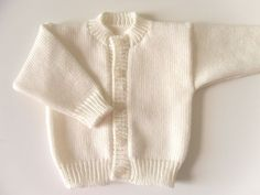 Baby Cream Knitted Cardigan/Baby Knits/Babywear/Baby Knitwear/Unisex Knitted Cardigan/Wool Knit Jumper/knitted sweater/Childrens knitwear