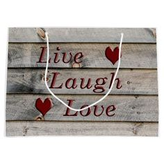Live Laugh Love on the side of a barn Large Gift Bag