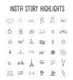 story highlights icons covers black and white icons hand drawn template graphic bundle highlights tipps und tricks fr den thermomix History Instagram, Images Instagram, Free Instagram, Welcome To Instagram, Instagram Travel, Clipart, Instagram Lyrics, Google Drive, Image Beautiful