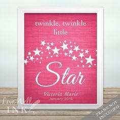 Twinkle Twinkle Baby Girl - Print