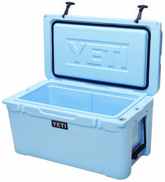 Treasure Chest // A one-piece design and rotomolded construction ensure Yeti's Tundra coolers are indestructible; 2 inches of pressure-injected poly insulation ensures contents stay cool.