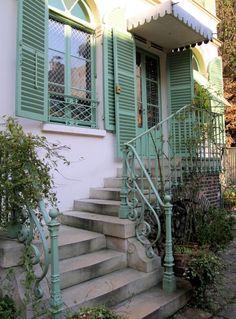Hint of Mint Mint Green Aesthetic, Paris Green, Monuments, Green Magic, Romantic Paris, Paris Travel Guide, Paris Ville, Cozy House, Stairways