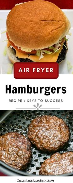 Air Fryer Recipes Hamburger, Air Fryer Oven Recipes, Air Frier Recipes, Air Fryer Dinner Recipes, Easy Dinner Recipes, Beef Recipes, Easy Meals, Cooking Recipes, Recipies