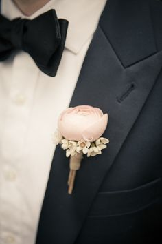 #boutonniere  Photography: The Wedding Artist's Collective - theweddingac.com  Read More: http://stylemepretty.com/2013/08/13/pennsylvania-vintage-wedding-from-the-wedding-artists-collective/