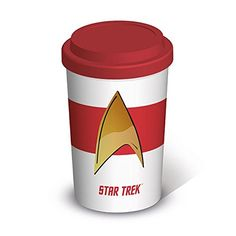 Star Trek Insignia Official New Travel Mug @ niftywarehouse.com #NiftyWarehouse #StarTrek #Trekkie #Geek #Nerd #Products