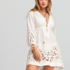 Plus Size White Crochet Dress   WHITE CROCHET DRESSES   The Dress Shop