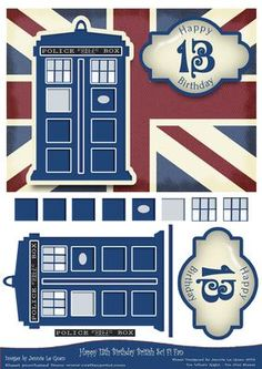 designed by Jennie Le Guen - I am a HUGE fan of the great British Science Fiction show that follows the exploits of the 'mad man with a box'. Here's a card topper for all my fellow 'Whovians'... - Now available for download!