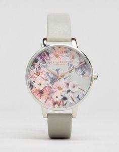 Olivia Burton Enchanted Garden Leather Watch OB15FS76