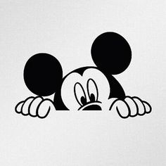 Arte Do Mickey Mouse, Mickey Mouse Drawings, Minnie Mouse 1st Birthday, Disney Drawings, Mickey Drawing, Mickey Mouse Bedroom, Mickey Mouse Stickers, Tatoo Mickey, Mickey Mouse Tattoos