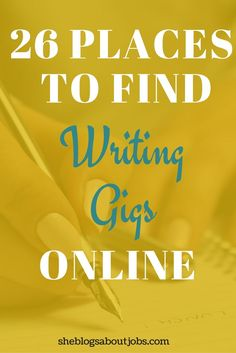 List of writing careers