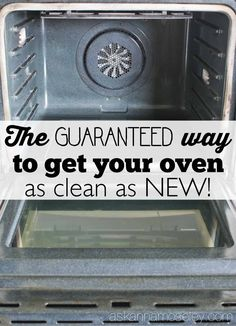 I'm sharing a revised version of my original post how to clean oven glass. This method is guaranteed to work & leave your oven, & the glass, sparkly clean! Deep Cleaning Tips, House Cleaning Tips, Cleaning Solutions, Spring Cleaning, Cleaning Hacks, Cleaning Products, Cleaning Lists, Cleaning Schedules, Speed Cleaning