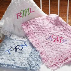 Monogram Embroidered Baby Blanket--Gift ideas for every occasion...