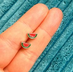 These itty-bitty earrings that are actually too cute for words: | 18 Watermelon Products You Never Knew You Needed Until Today