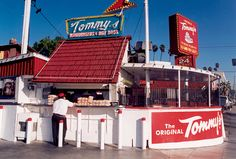 The Original Tommy's, Los Angeles.  Featured on FoodNation with Bobby Flay for their Double Chili Cheeseburger, Chili Cheese Fries and more.