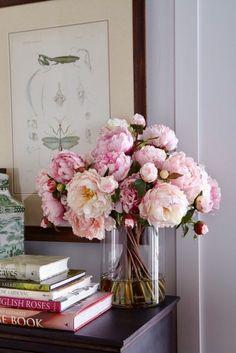 "thevisualvamp:  ""Art, books, flowers  """