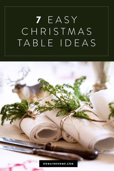 You still have time to create a chic holiday table with very little time and money.