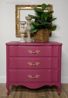 "We are just ""Plum Crazy"" about this piece...Dixie Belle Paint Color Plum Crazy!"