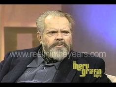"""Orson Welles was a dear friend of Merv Griffin but was a notoriously guarded interviewee. He told Merv he wasn't interested in taking """"trips down memory lane. Merv Griffin Show, Charles Foster, Take The Opportunity, Orson Welles, October 10, Hollywood Icons, Great Films, Star Citizen, Dear Friend"""