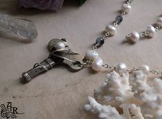 Sterling Wire Wrapped Vintage Key Necklace with by artefactredux