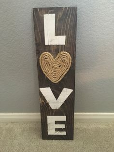 Rustic Love Sign by CraftsbyJenilee on Etsy https://www.etsy.com/listing/467360177/rustic-love-sign