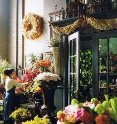 quaint little shops with outdoor flower markets