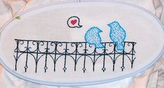 Birds on a Fence, pattern by Urban Threads, via Flickr.