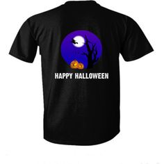 Happy Halloween tshirt - Ultra-Cotton T-Shirt Back Print Only – Cool Jerseys