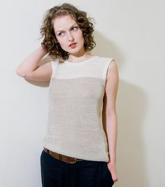 Pure & Simple. Jersey Linen Top on Etsy, $93.41