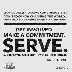 @ThatHannahAlper:   Great advice about creating change from one of my favourite #WEDay Ambassadors, Martin Sheen http://time.com/4465252/martin-sheen-we-days/ … via Michael Braithwaite (@mbraithwaite72)   Twitter