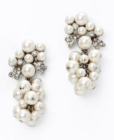 Bridal Bead and Crystal Earrings via Ann Taylor