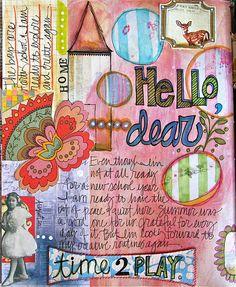 art journal page by TMcFayden, via Flickr