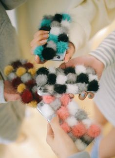 Pom-Pom Covered Phone Case | STYLENANDA