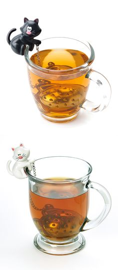 Kitty cat tea infuser - cute! #product_design