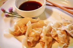 ginger lime steamed chicken dumplings