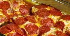 Low-Carb and Gluten-Free Pepperoni Pizza Chicken Bake Recipe