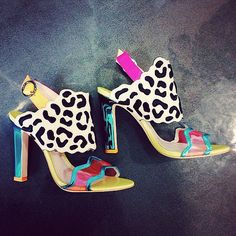 colorful high heels sandals | Noble shoes
