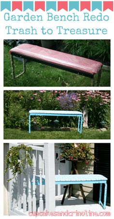 A great Trash to Treasure bench makeover!