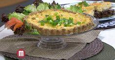 Torta de frango e queijo prato - TV Gazeta