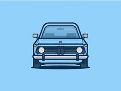 BMW 2002 tii by Scott Tusk  #bmw #car #icon, #illustration, #graphicdesign, #graphic, #pixel, #webdesigner, #graphicdesigner, #flatdesign, #illustrator, #photoshop, #design, #creativity, #creative, #flaticons #GraphicGang