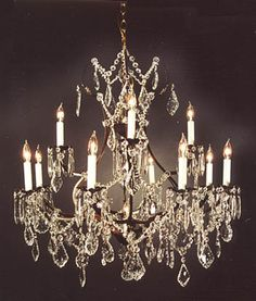Go a7 30365 new tole wrought iron crystal chandelier h22 x w21 wrought iron chandelier hanging on an ivory ceiling framed with the black molding aloadofball Gallery