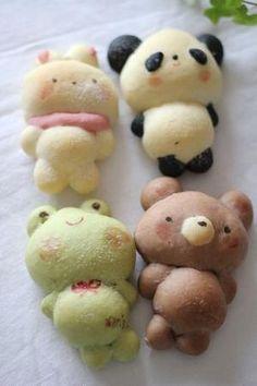 So cute!!!!! Animal rolls! 初夏のおとずれ便~ぱん~ : *手作りぱんとおやつ~M's~*       #food #kawaii