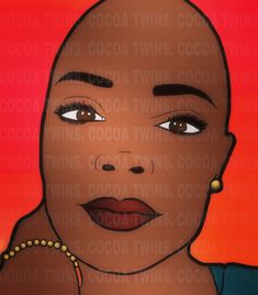 Beautiful Bald Woman Drawing by Cocoa Twins Bald Girl, Bald Women, Woman Drawing, Black Girl Magic, Black Art, School Supplies, Digital Image, Glitters, Jewelry Stores