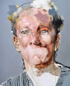 """Light Blue Iris,"" expressionist portrait painting by Michał Janowski Art Painting, Watercolor Canvas, Expressionist Art, Figure Painting, Painting, Art, Portrait Painting, Saatchi Art, Portrait Art"