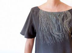 handpainted dress. whoa. via satsumapress