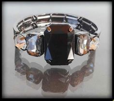 Elegancka kryształowa bransoletka z trzema kolorami kamieni | BIŻUTERIA \ Bransoletki | Evangarda.pl
