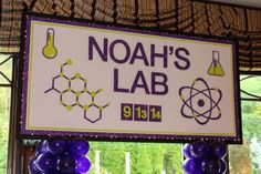 Science Themed Backdrop - Custom Party Backdrops & Murals