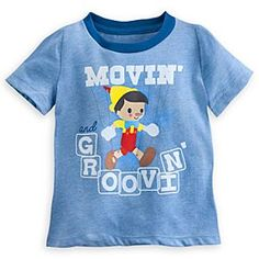 Disney Pinocchio Ringer Tee for Baby | Disney StorePinocchio Ringer Tee for Baby - Baby will be ''movin' and groovin''' with string-free freedom in our stylized Pinocchio tee with heathered fabric and contrast crew collar.