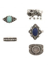 SHARE & Get it FREE | 5 PCS Retro Faux Gem Elephant RingsFor Fashion Lovers only:80,000+ Items • New Arrivals Daily • Affordable Casual to Chic for Every Occasion Join Sammydress: Get YOUR $50 NOW!
