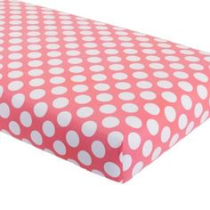 Hop to It Crib Fitted Sheet (Pink w/White Dot)  | The Land of Nod